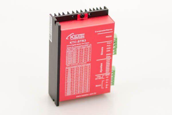KTC-STR-3 Drive de Motor de Passo 3A (24-48V) sinais NPN/PNP 25600PPR