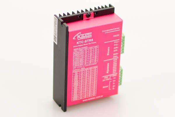 KTC-STR-6 Drive de Motor de Passo 6A (24-75V) sinais NPN/PNP 51200PPR