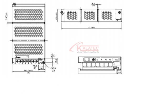 PMC-24V150W1AA - Fonte de Alimentação Chaveada 24V - 6,25A - 150W