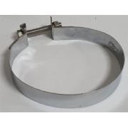 Abraçadeira alternador CROMADA c/ parafuso INOX cinta fixadora  fusca brasilia kombi