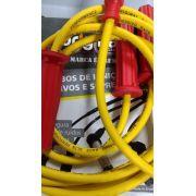 Cabo de velas AMARELO p/ FUSCA 83/96 8.0mm supressivos 100% silicone