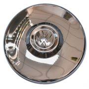 Calota cromada c/ emblema (roda 04 furos) fuscão/variant