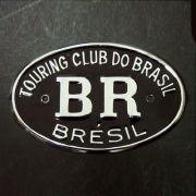 Emblema em metal cromado resinado BR TOURING