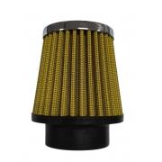 Filtro Cônico AMARELO FUSCA 1300/1500/1600 11cm altura c/ elemento lavável