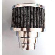 FILTRO cromado c/ elemento grafite fusca 1300/1500/1600 DUPLO FLUXO