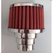 FILTRO cromado c/ elemento vermelho fusca 1300/1500/1600 DUPLO FLUXO