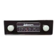 Frente falsa I tapa buraco do RADIO FUSCA c/ botão bege