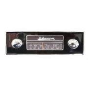 Frente falsa I tapa buraco do RADIO FUSCA c/ botão cromado