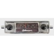 Frente falsa tapa buraco do RADIO FUSCA c/ botão preto