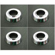 Jogo c/ 04 rosetas em alumínio cromado