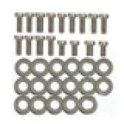 Kit de parafusos + arruelas em inox para lataria do motor FUSCA 17 pçs