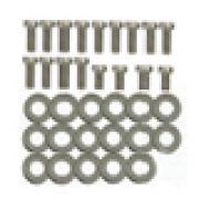 Kit de parafusos ALLEN + arruelas em inox para lataria do motor FUSCA 17 pçs
