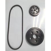 Kit polias alumínio preta MOTOR 1300/1500/1600 STANDER + correia