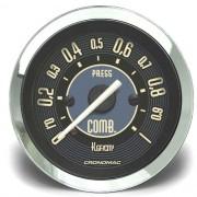 Manômetro Pressão Combustível 52mm CRONOMAC Mecânico 1kg VW Bege