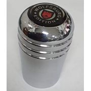 Manopla aluminio cromada c/ logo WOLFSBURG