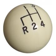 Manopla de cambio bola bege c/ marcha