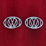 PAR de Gradinhas para-lamas do fusca de luxo com emblema VW