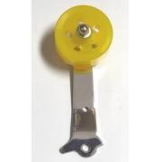 Pedal ROLLER fusca (ROLDANA AMARELA) haste cromada
