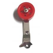 Pedal ROLLER fusca (ROLDANA VERMELHA) haste cromada