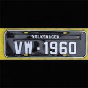 Placa PRETA decorativa Volkswagen VW - 1960