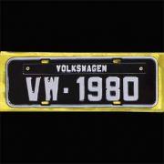 Placa PRETA decorativa Volkswagen VW - 1980