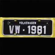 Placa PRETA decorativa Volkswagen VW - 1981