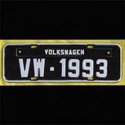 Placa PRETA decorativa Volkswagen VW - 1993