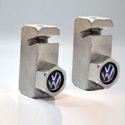 Suporte placa dianteira modelo tijolinho c/ parafuso VW