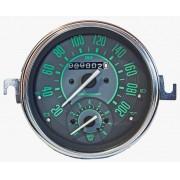 Velocímetro 110mm Mecânico 200kmh VW – Verde – Com Contagiros