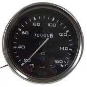 Velocimetro WILLTEC 110mm Fusca 160 Km/H- Fundo Preto - W85220c