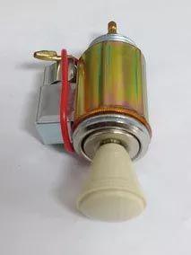 Acendedor 12V com iluminação ambar p/ adaptação botão BEGE  - SSR Peças & Acessórios ltda ME.