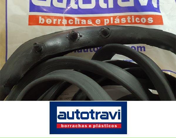 Borracha capo encaixe fusca até 1986 PREMIUM (AUTOTRAVI)  - SSR Peças & Acessórios ltda ME.