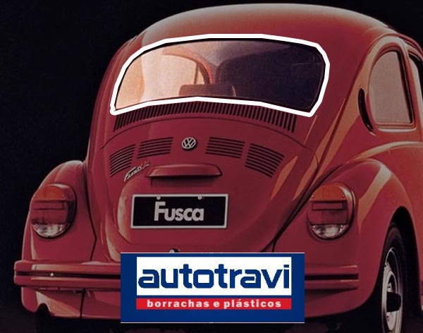 Borracha VIGIA PREMIUM (AUTOTRAVI) FUSCA 67/96 STD SEM ENCAIXE P/ FRISO  - SSR Peças & Acessórios ltda ME.