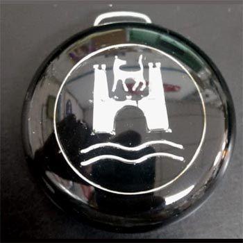 Botão WOLFSBURG BUZINA para volante do FUSCA   - SSR Peças & Acessórios ltda ME.