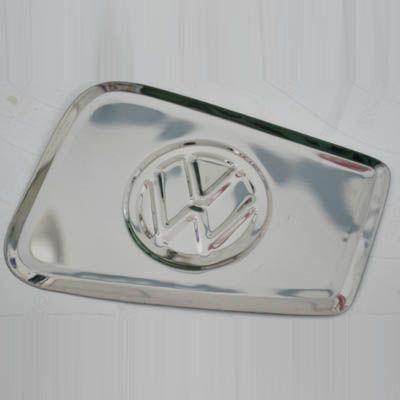Capa em inox VW p/ portinhola do tanque de combustível FUSCA 78/96  - SSR Peças & Acessórios ltda ME.