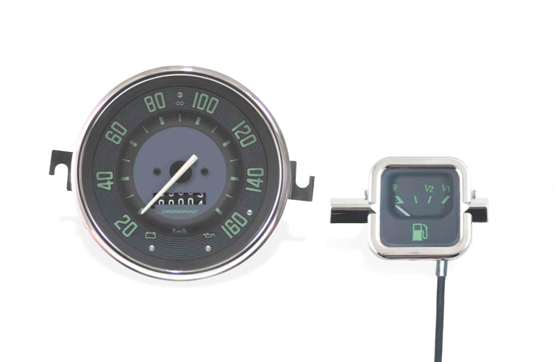 Conjunto Velocímetro 160kmh e Indicador Mec. CRONOMAC mod. Original VW/VERDE  - SSR Peças & Acessórios ltda ME.