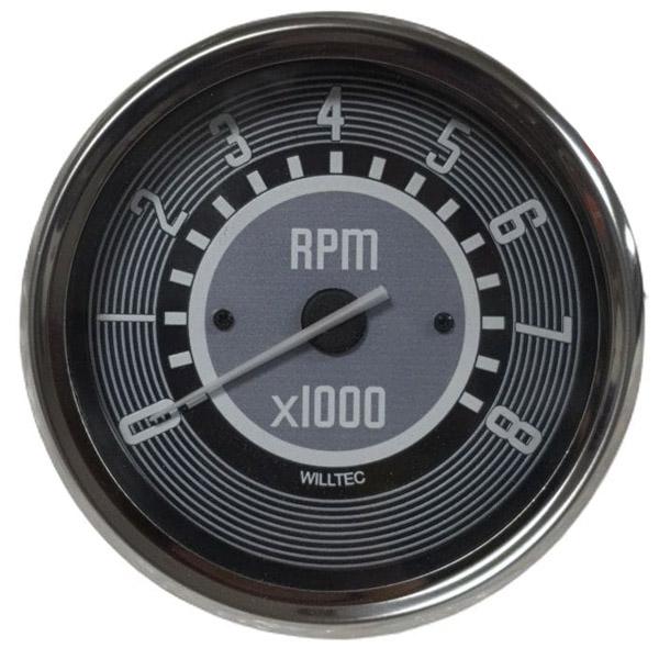 Conta Giros WILLTEC Fusca Rpm 8.000 Rpm Fusca Buggy 110mm  - SSR Peças & Acessórios ltda ME.