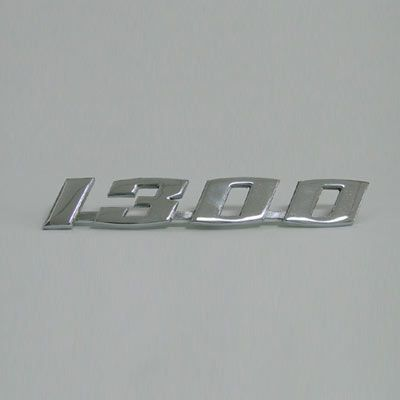 Emblema 1300 em metal cromado   - SSR Peças & Acessórios ltda ME.