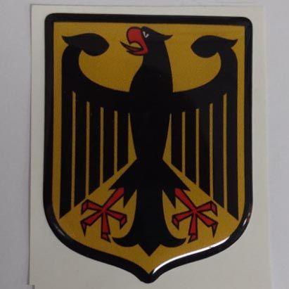 Emblema adesivo resinado Brasão das armas alemanha   - SSR Peças & Acessórios ltda ME.