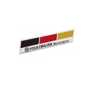 Emblema bandeira da ALEMANHA VOLKSWAGEN MOTORSPORT   - SSR Peças & Acessórios ltda ME.