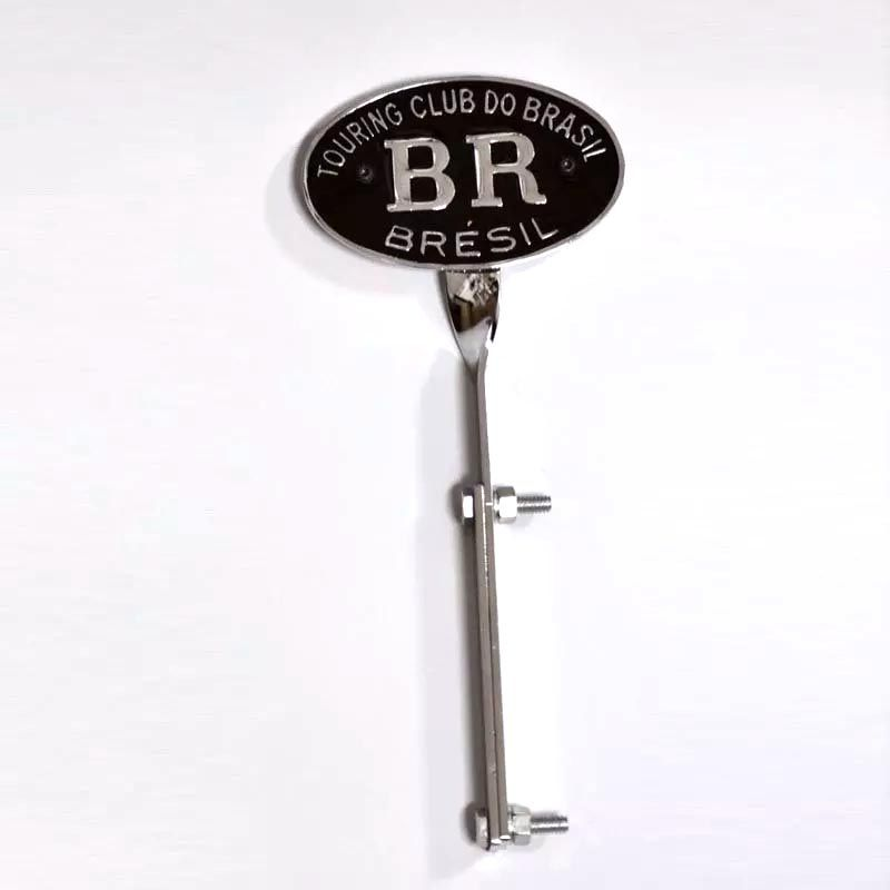 Emblema BR touring club + suporte FUSCA 71/96   - SSR Peças & Acessórios ltda ME.