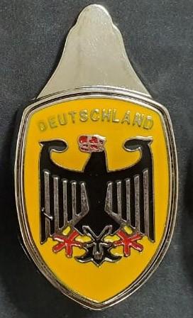 Emblema Deutschland BRASÃO metal capô dianteiro   - SSR Peças & Acessórios ltda ME.