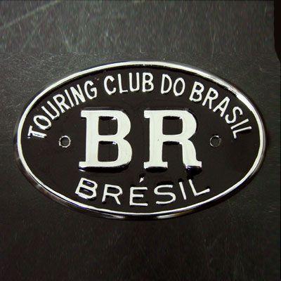 Emblema em metal cromado resinado BR TOURING   - SSR Peças & Acessórios ltda ME.