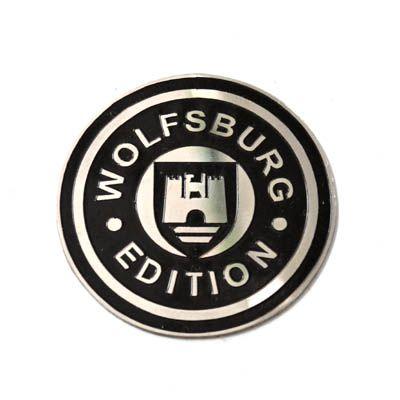 Emblema inox (colante) WOLFSBURG Edition   - SSR Peças & Acessórios ltda ME.