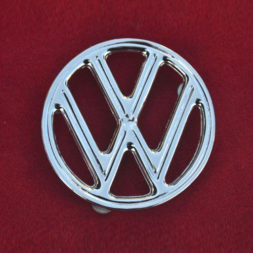 Emblema VW Capô FUSCA (em alumínio cromado)   - SSR Peças & Acessórios ltda ME.