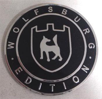 Emblema WOLFSBURG 65mm colante  - SSR Peças & Acessórios ltda ME.