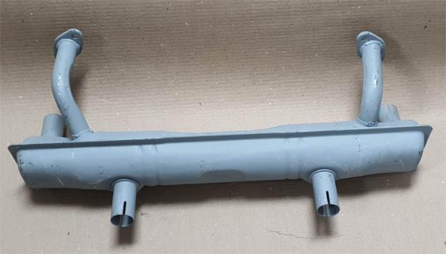 Escapamento fusca caixa tipo original s/ aquecimento  - SSR Peças & Acessórios ltda ME.