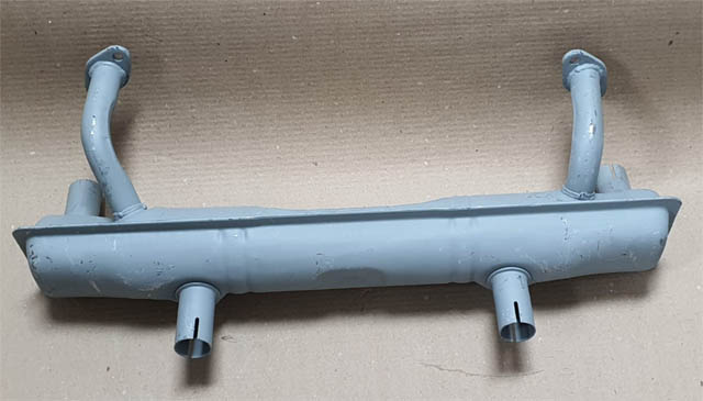 Escapamento fusca DESMIOLADO caixa tipo original s/ aquecimento  - SSR Peças & Acessórios ltda ME.