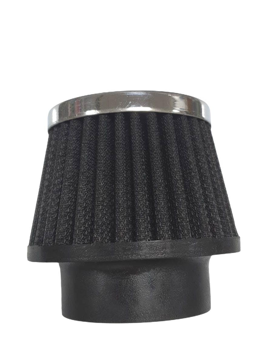 Filtro cônico PRETO 8,0cm altura lavável p/ carburador FUSCA   - SSR Peças & Acessórios ltda ME.