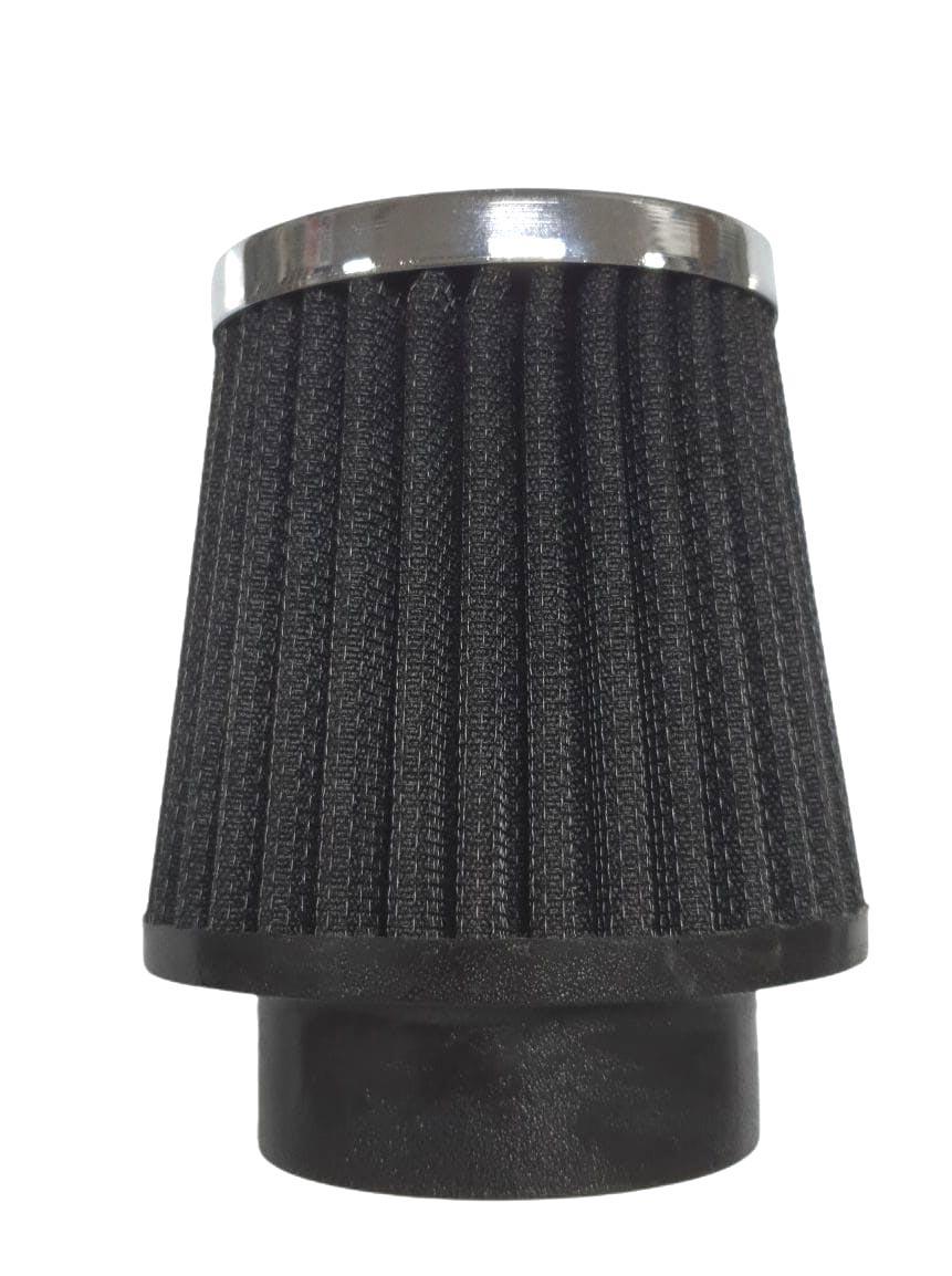 Filtro Cônico PRETO FUSCA 1300/1500/1600 11cm altura c/ elemento lavável   - SSR Peças & Acessórios ltda ME.
